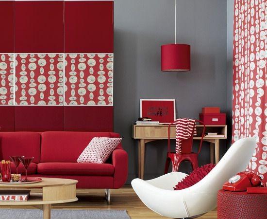 Woonkamer rode muur beste inspiratie voor interieur design en meubels idee n - Eigentijdse woonkamer decoratie ...