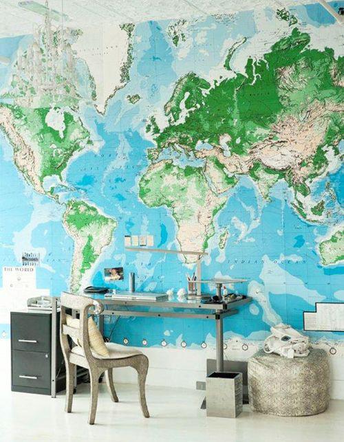 wereld kaart woonaccessoires