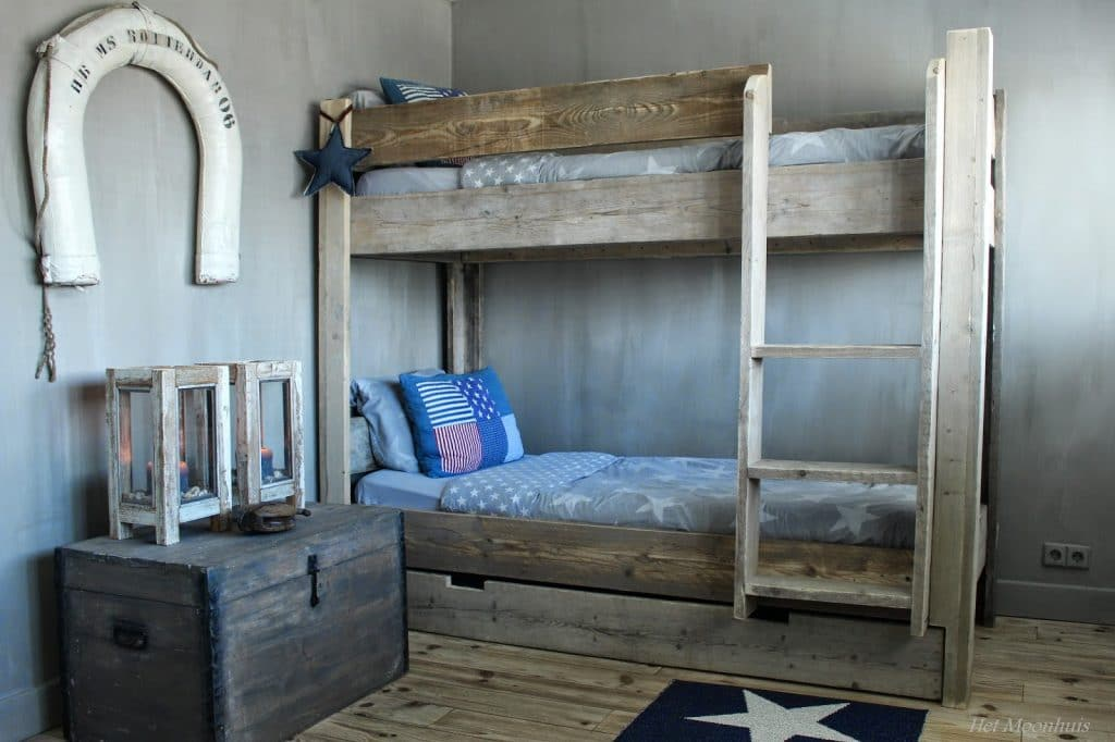 Jongens slaapkamer - Blauwe en grijze jongens kamer ...