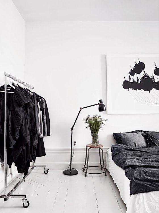Zwart wit slaapkamer - Interieur Insider