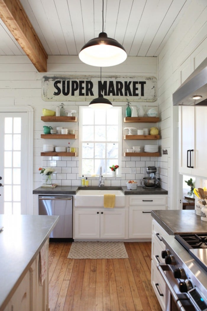 Open Keuken Ideeen : Mooie-keuken-met-stoere-planken.1404138648-van-SiendeWit