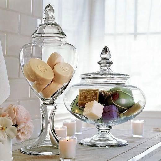Glazen potten decoreren