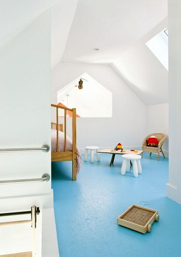 attic-blue-painted-floor