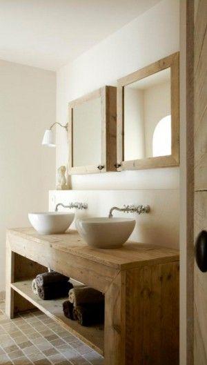 Badkamer stijlen - Houten meubels voor badkamers ...