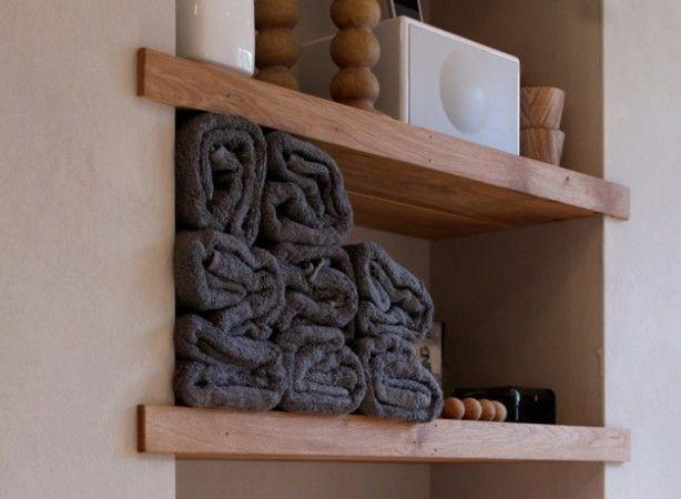 houten plankjes in badkamer archieven  interieur insider, Meubels Ideeën