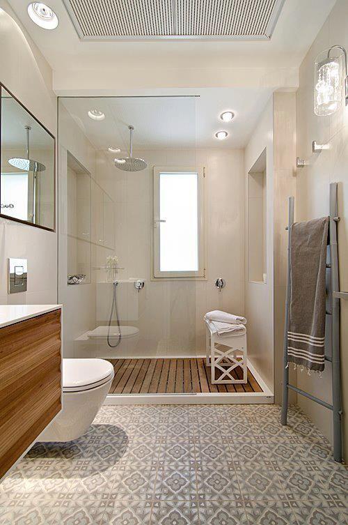 Accessoires badkamer interieur insider - Salle de bain carreaux ciment ...