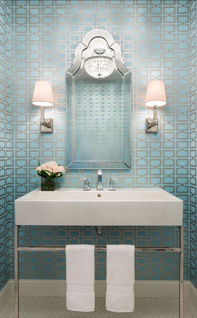 Mooiste Kleine Badkamers ~   behang badkamer behang in badkamer behang interieur behang voor