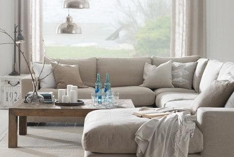 Beige woonkamer for Kleuren huiskamer