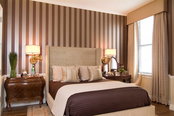 brown-bedroom-featuring-vertical-stripes