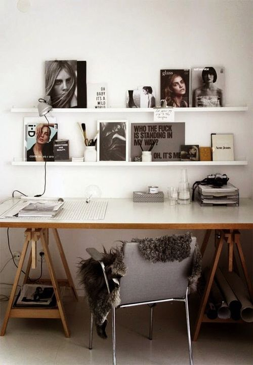 Decoratie kantoor interieur insider for Tumblr desk ideas