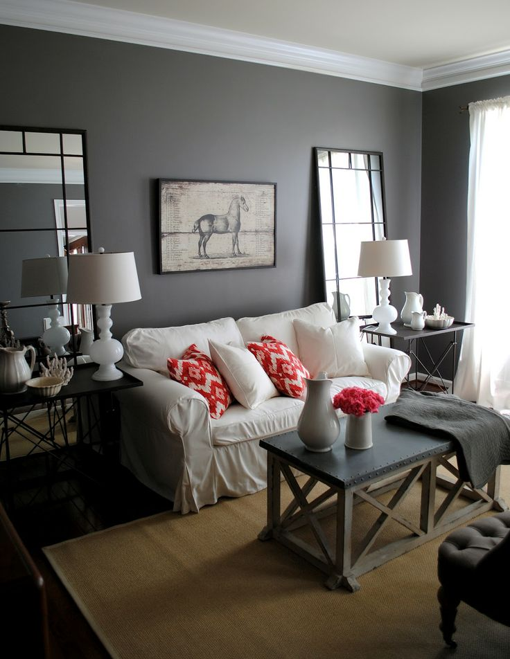 Donkere woonkamer interieur insider - Grey and black living room pictures ...
