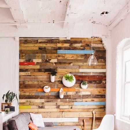 Hout op de muur interieur meubilair idee n - Interieur gevelbekleding houten ...