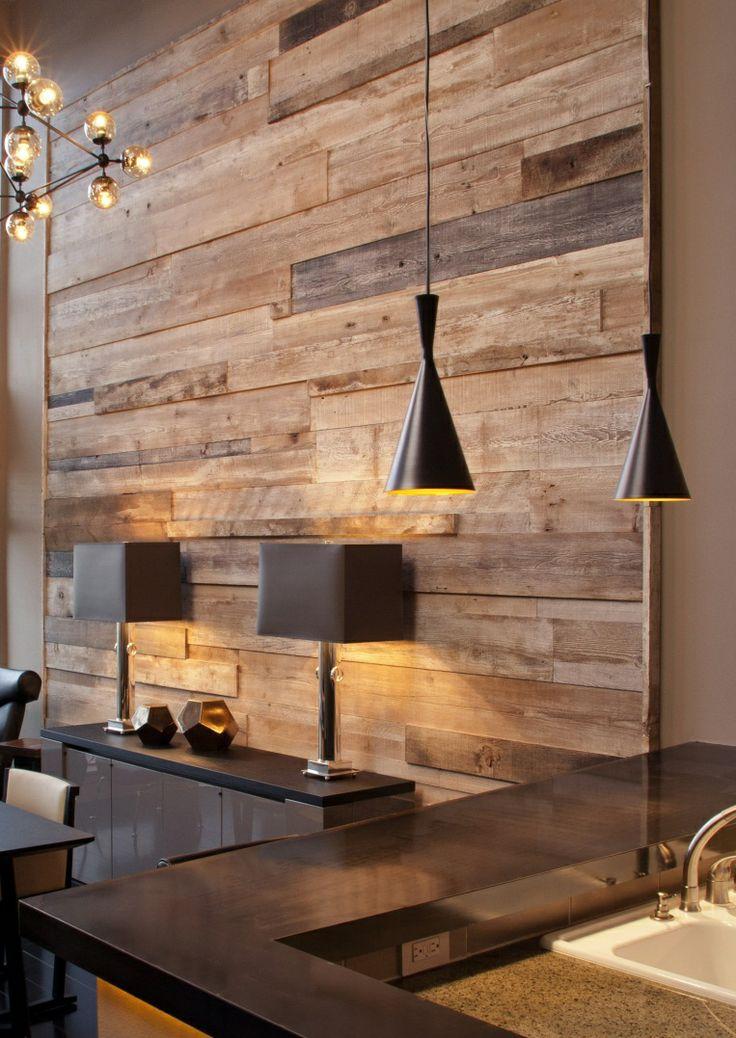 Wat een goedkopere optie is, is om hout behang te kopen. In veel ...