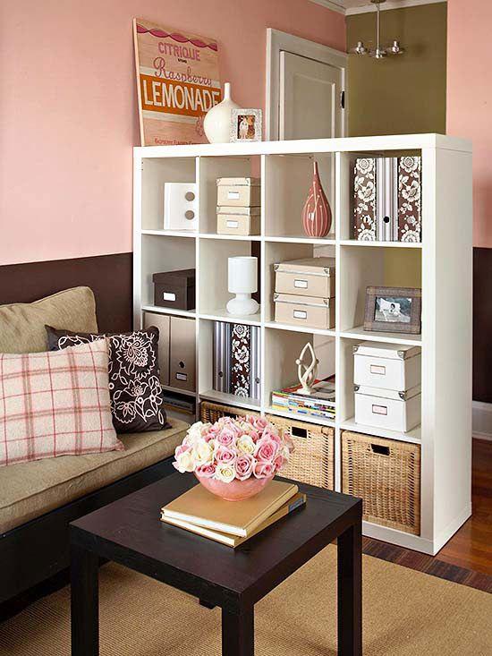 Zithoek inrichten interieur insider - Astuce de rangement pour petit appartement ...
