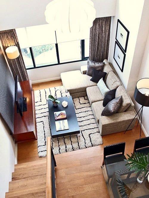Kleine woonkamer inrichten - Een kleine rechthoekige woonkamer geven ...