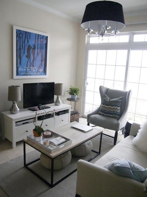 kleine woonkamer inrichten - interieur insider, Deco ideeën
