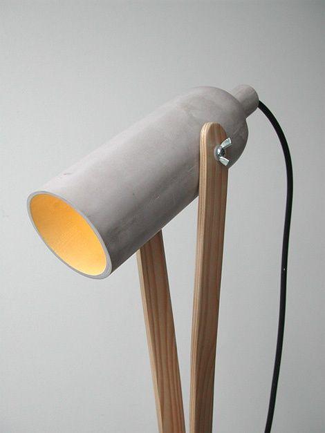 Gezellige lampen interieur insider for Diy concrete lamp