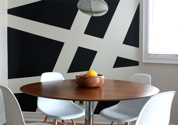 Painted Stripes In Kitchen