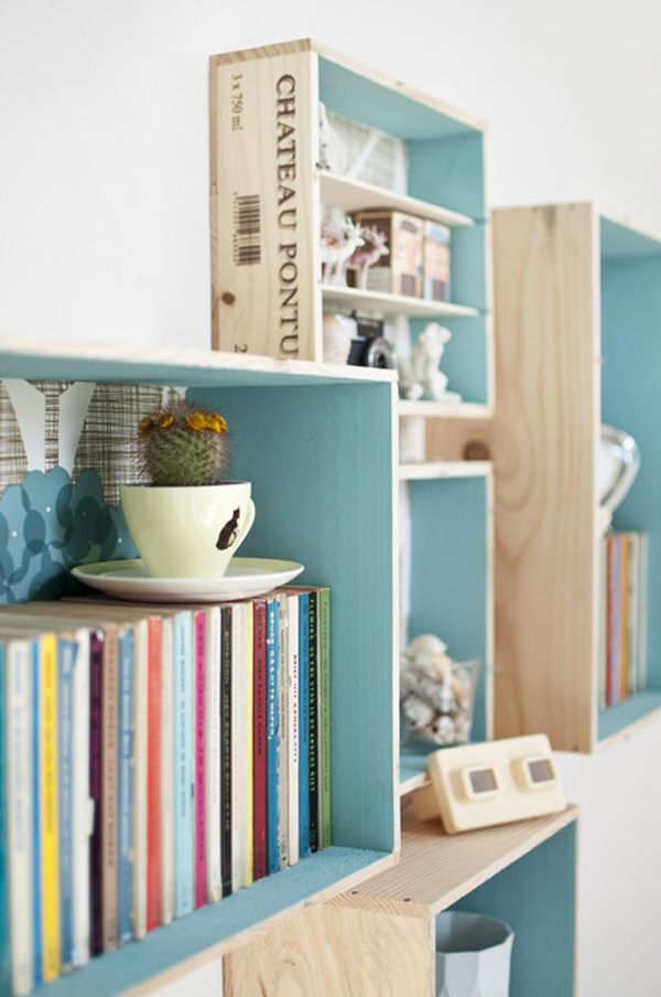 Keuken Opberg Ideeen : DIY Wooden Crate Ideas