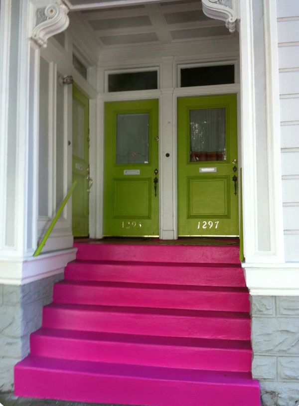 paint-the-front-house-stairs-bold-purple