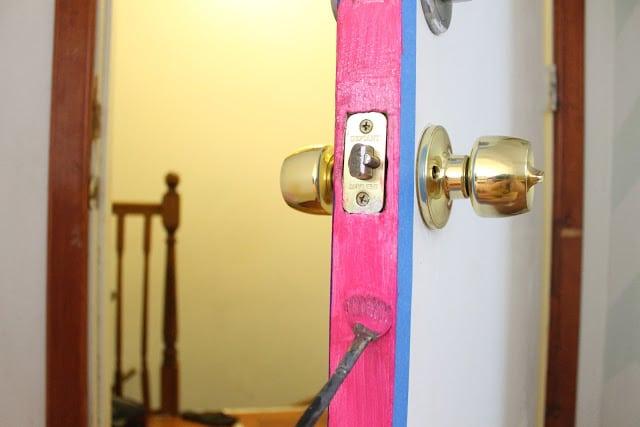 painting the door