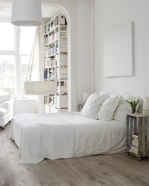 Scandinavische slaapkamer - Volwassen kamer kleur idee ...