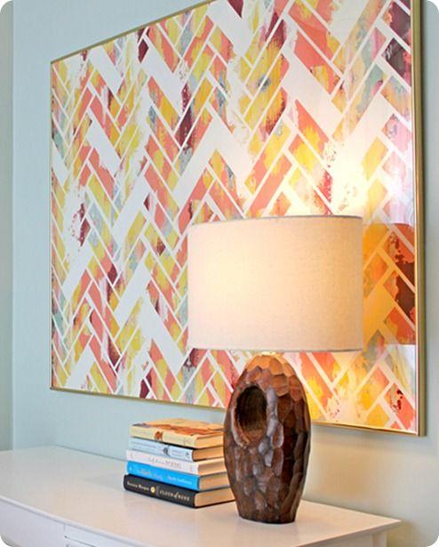 Diy Wall Painting Ideas Pinterest : Abstract schilderij maken interieur insider