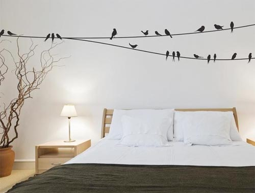 Muurstickers Keuken Decoratie : Wall Sticker Birds On a Wire