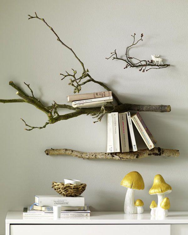 ... takken kun je heel gemakkelijk jouw eigen originele boekenkast maken
