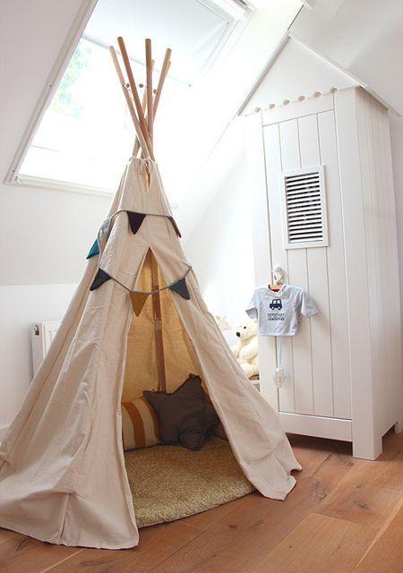tipi tent kinderkamer interieur insider. Black Bedroom Furniture Sets. Home Design Ideas