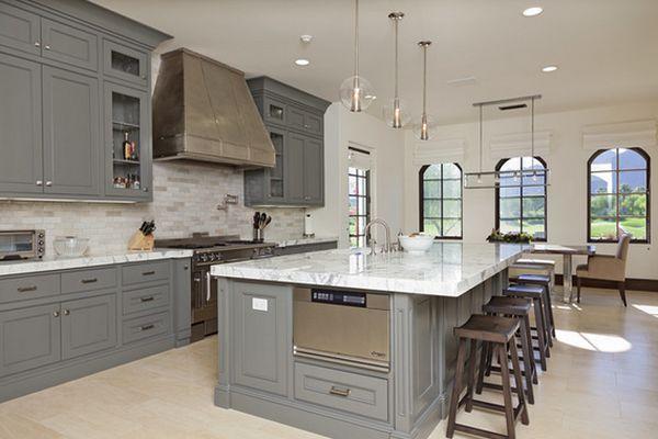 traditional-gray-kitchen-design-big-island