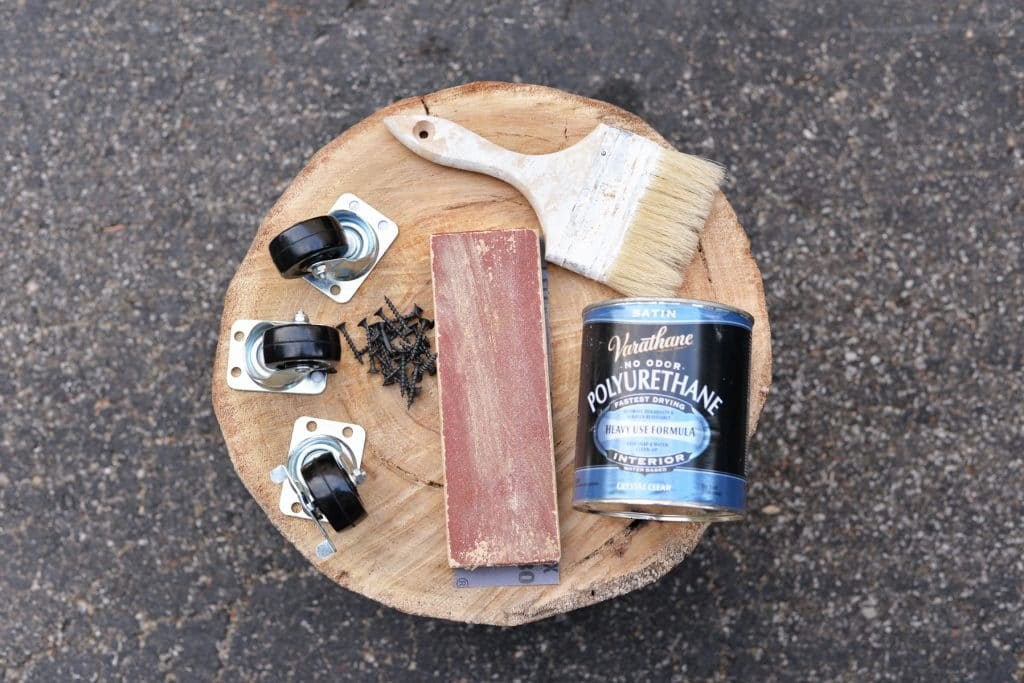 tree-stump-side-table-supplies