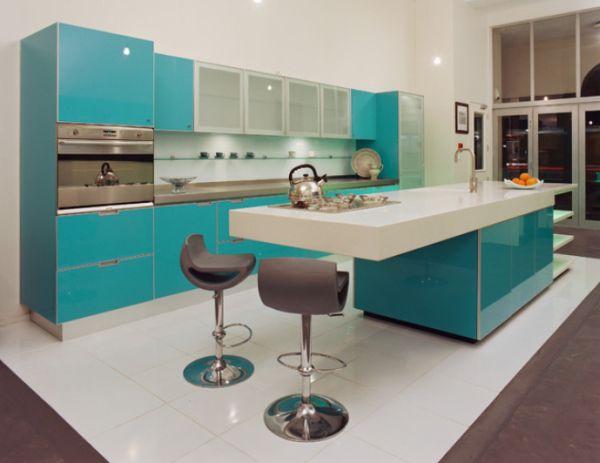 Groene Keuken Accessoires : Turquoise Kitchen Ideas