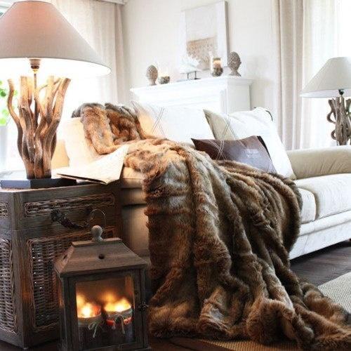 Warme kleuren in woonkamer