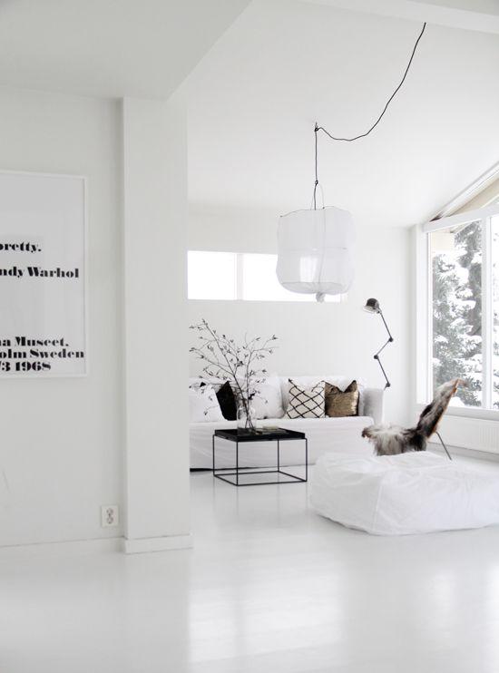 Wooninrichting idee n interieur insider - Moderne witte kamer ...
