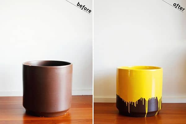 yellow-drip-planter