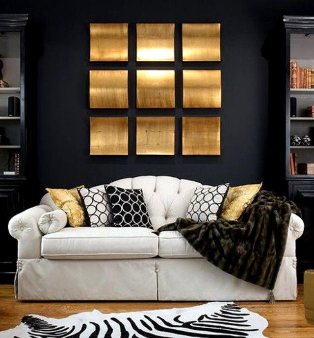 Zwart met gouden decoratie