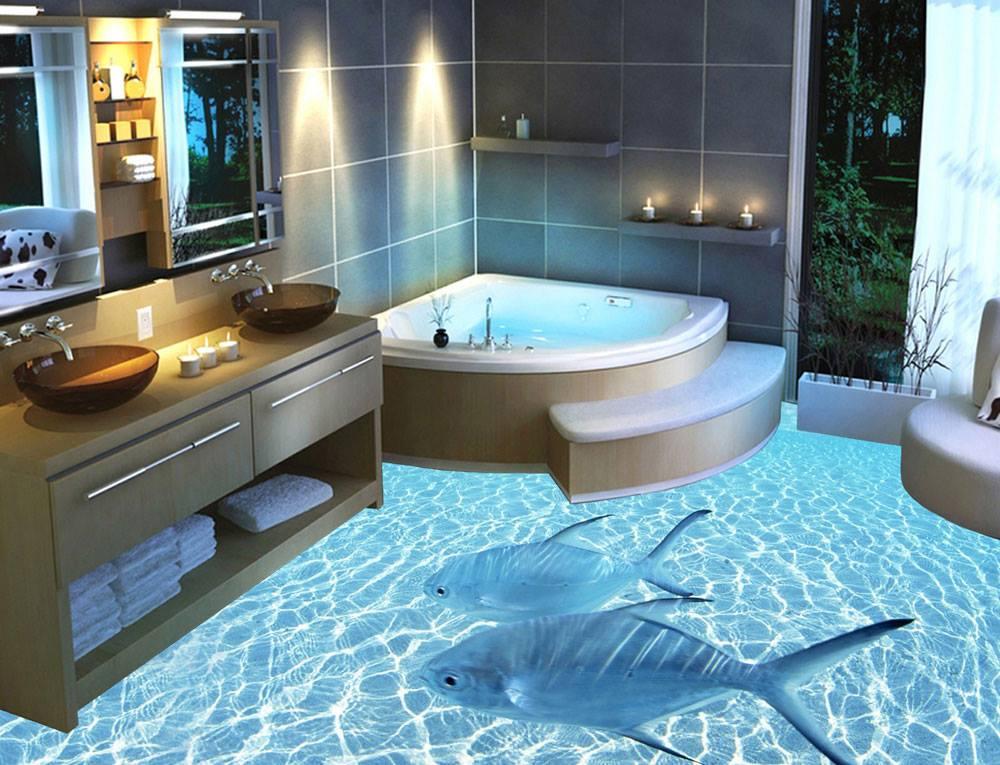 Opmerkelijke badkamervloeren