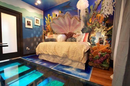 Kinderkamer thema onder water - Thema slaapkamer meisje ...