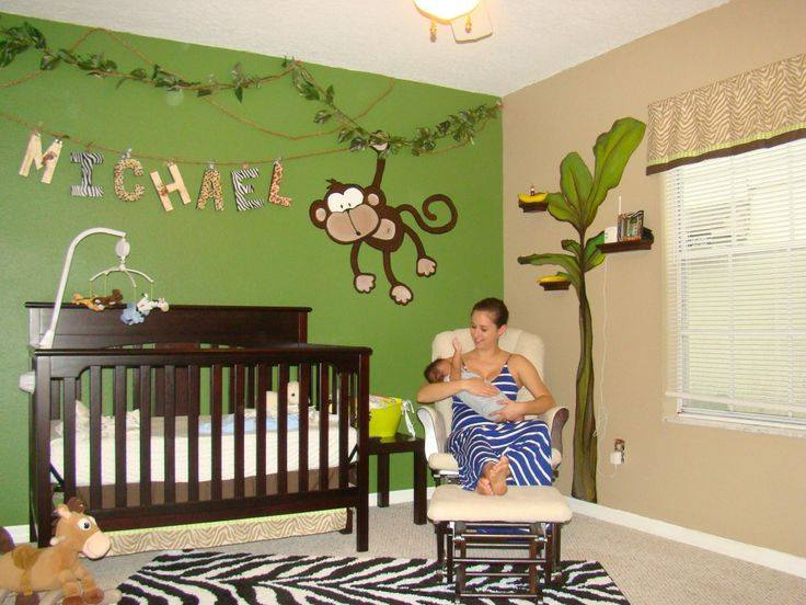 Jungle kinderkamer - Ideeen deco kamer baby boy ...