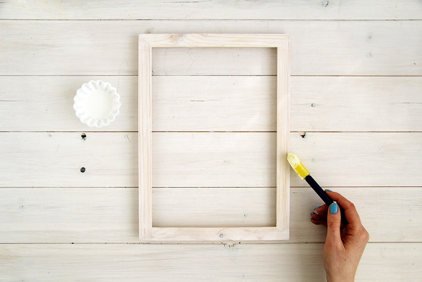 White-washed-picture-frames-first-layer-painting