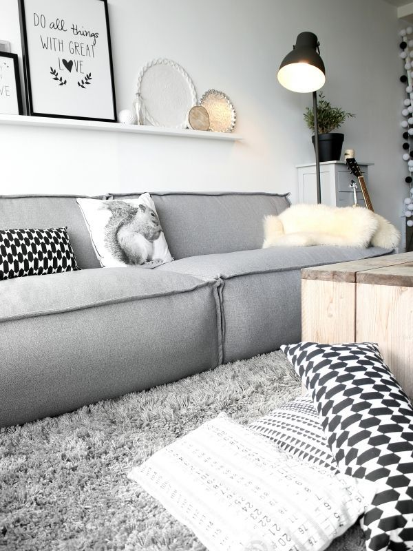 Zwart wit interieur woonkamer - Interieur Insider