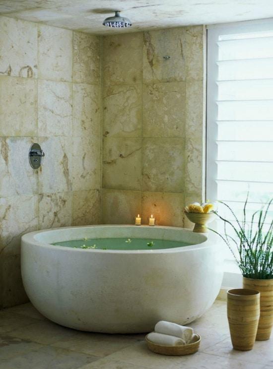 badkamer rond bad