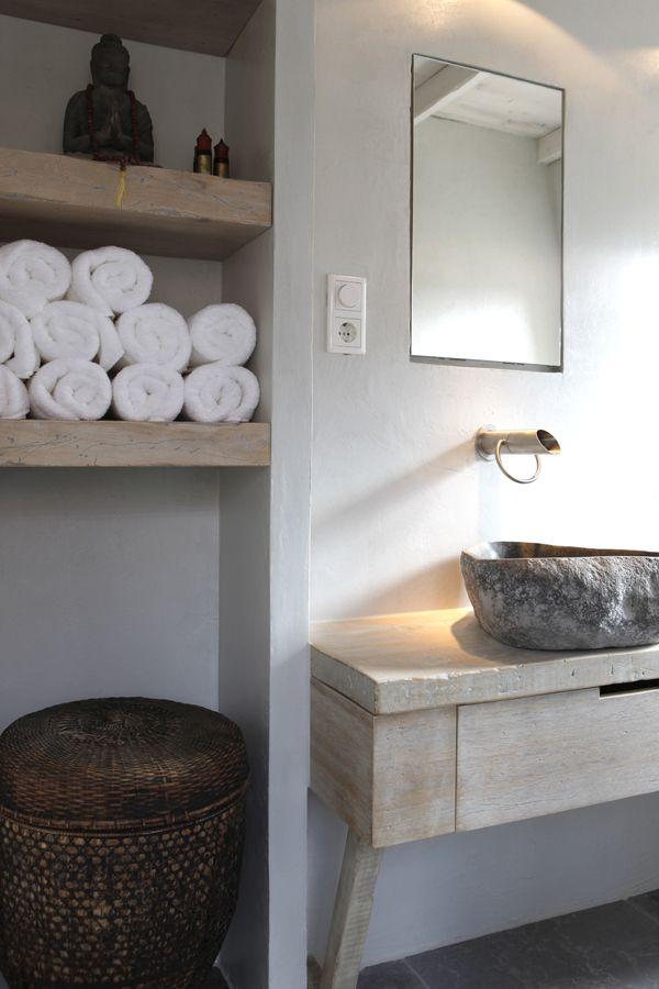 Landelijke badkamer voorbeelden - Kleur idee ruimte zen bad ...