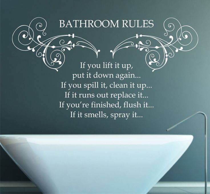 Muursticker badkamer interieur insider for Bathroom quote signs