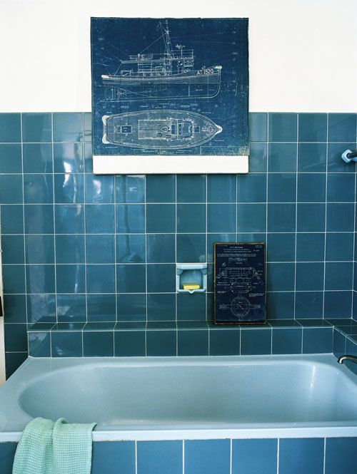 Kleurrijke badkamers