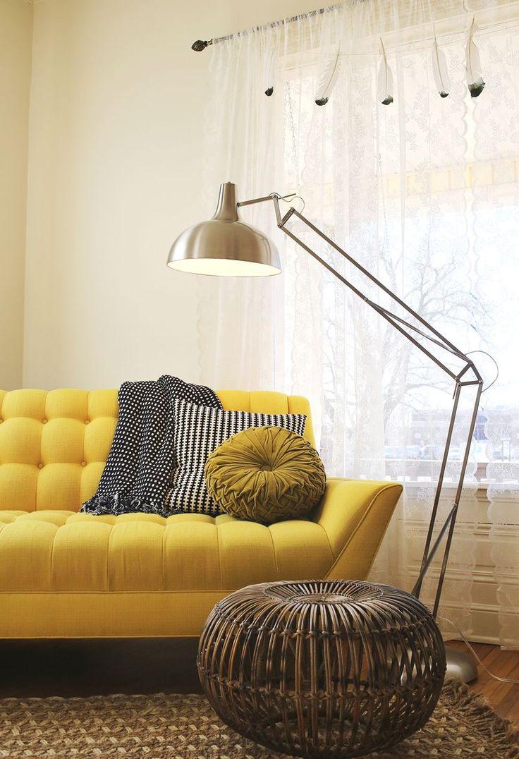 ... bank woonkamer gele bank groene bank kleur in de woonkamer kleurrijke