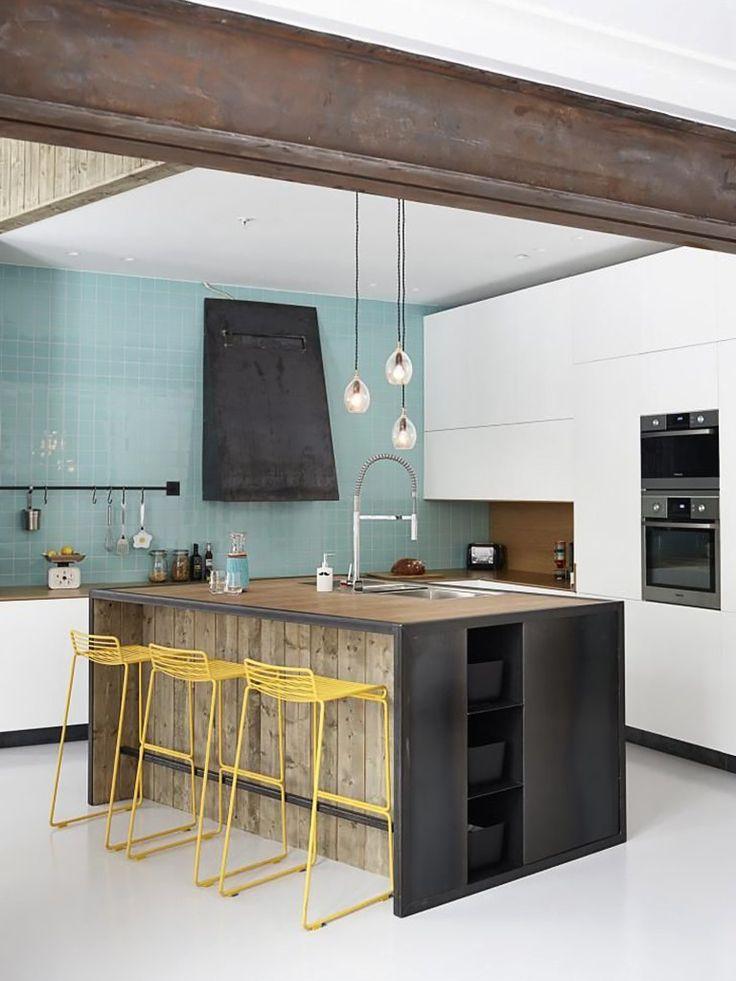 Bar in keuken interieur insider - Huis bar ...