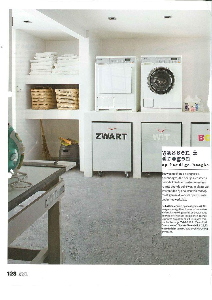 Inrichten bijkeuken - Moderne wasruimte ...