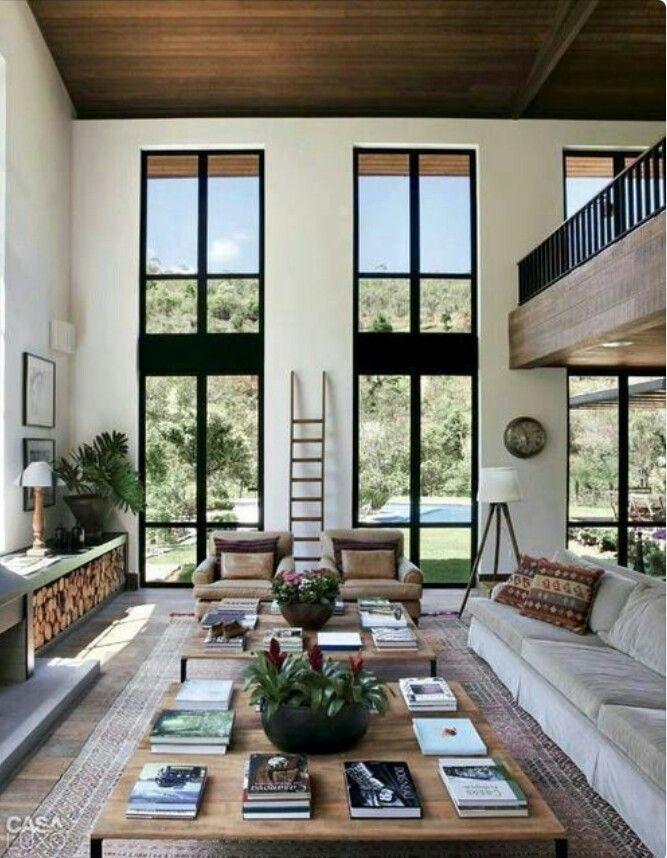 Balkon in huis - Terras eigentijds huis ...